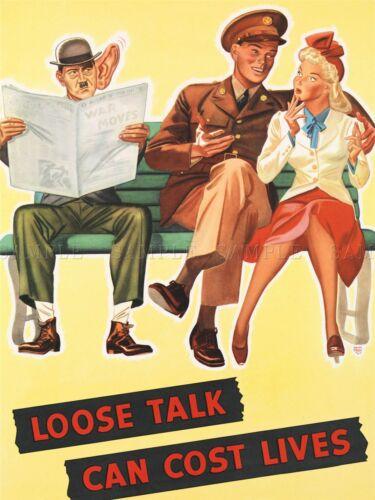 PROPAGANDA LOOSE TALK SOLDIER WAR ART POSTER PRINT PICTURE LV6945