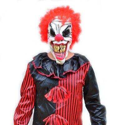 Killer Halloween Clown Mask Latex Scary CURLY CLOWN