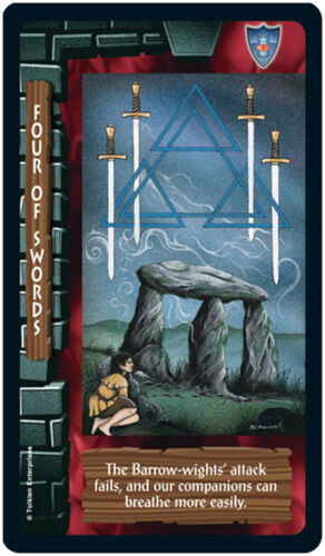 The Lord of the Anneaux Tarot Cartes et Carte Jeu us games systems Raconte Neuf