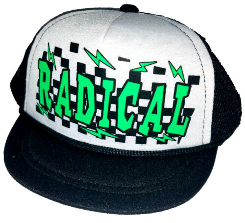 Radical Rad Baby Newborn Infant Mesh Trucker Hat Cap Snapback Checker Bolts