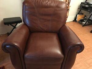 Outstanding Details About Macys Mahogany Leather Push Back Recliner Slightly Used 300 Inzonedesignstudio Interior Chair Design Inzonedesignstudiocom