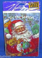 Hallmark Party Express Santa Claus Christmas Invitations Pkg Of 8 Nip Free Ship