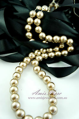 *60pcs Pearl Beads 14mm Gold Color Imitation Acrylic Loose Round Pearl Spacer*