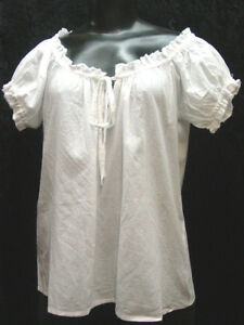 Cotton-camisole-ren-fair-Renaissance-Victorian-corset-cover-blouse-sizes-S-XXL