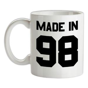 Made-in-039-98-Mug-21st-Compleanno-1998-Regalo-Regalo-21-Te-Caffe