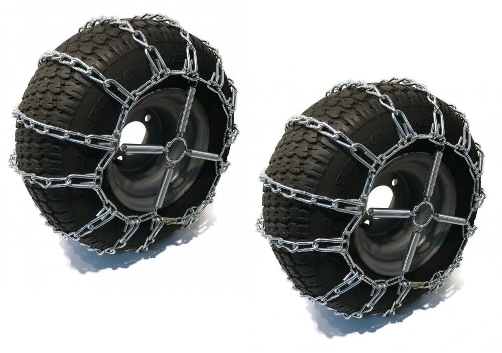 New 2 Link TIRE CHAINS & TENSIONERS 23x10.5x12 for Simplicty Lawn Mower Tractor