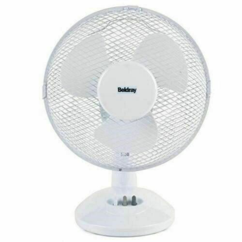 """EXTRA Resistente 9/"""" Ventilatore da tavolo portatile ventilatore oscillante 3 velocità Bianco Casa Ufficio"""