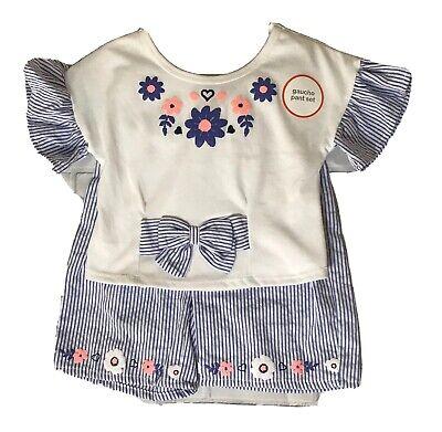 Wonder Nation Toddler Short Sleeve Ruffle Top /& Suspender Skirtall 2pc Dress Set