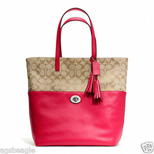 Coach Bag F26476 Turnlock Tote Signature