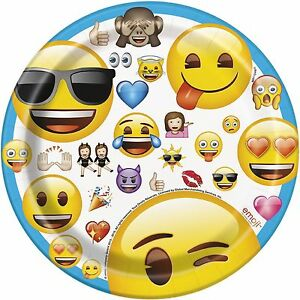 Image is loading EMOJI-PLATES-PK-8-7-034-PAPER-PARTY-  sc 1 st  eBay & EMOJI PLATES PK/8 7