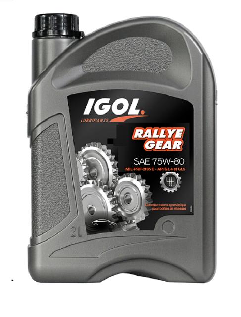 Bidon Huile Boite de vitesse Igol Rallye Gear 75W80 2 litres - API GL-4 et GL-5