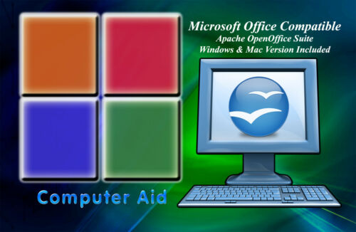 Open Office 4.1.2 Suite OLD VERSION Win /& Mac Version CD