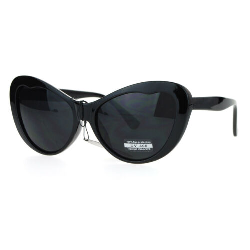 SA106 Womens Oversize Cat Eye Retro Goth Sunglasses