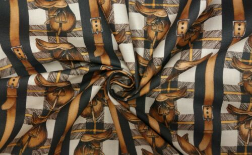 Equestrian Horse Show Jumping Eventing Tack 100/% Cotton Patchwork Craft Fabric