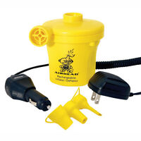 Airhead Kwik Tek Rechargeable 12v Air Pump For All Tubes Towables Multi-tip
