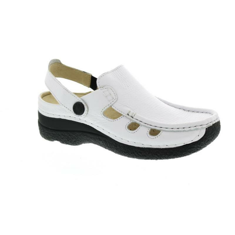 Wolky Roll-Multi, Clog, Printed leather, White 06220-70100 Printed Leather Whit