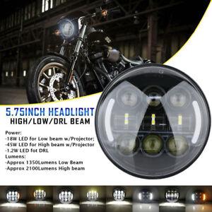 5-75-039-039-5-3-4-039-039-Moto-Phare-Projecteur-LED-Hi-Lo-DRL-Ambre-Clignotant-Pour-Harley