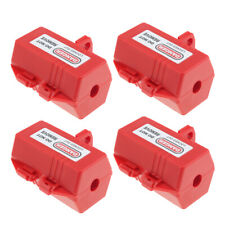 Lots 5 Red Electrical Plug Lockout Safety Tagout Recycled Plastic Made