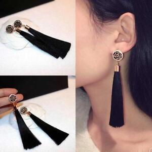 Bohemian-Earrings-Silk-Fabric-Long-Drop-Dangle-Tassel-Earrings-Jewelry-s