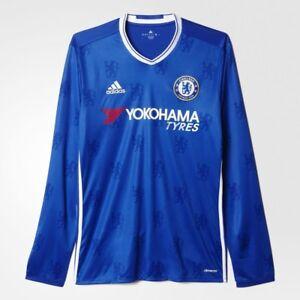 Adidas Chelsea FC Men s Home Soccer Jersey 16 17 Long Sleeve Size XL ... 67da64aea693d
