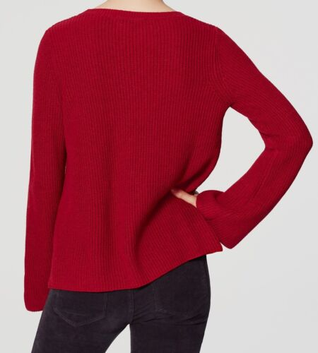 Ann Taylor LOFT Ribbed Bell Sleeve Sweater Size X-Small Small X-Large NWT