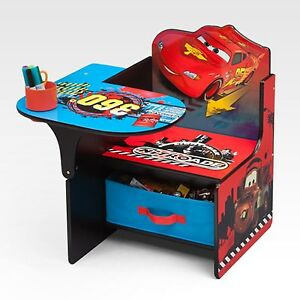 Disney Cars Desk Chair Kids Childs Boys Bedroom Toys Books