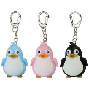 Details about Cute Animal Penguin LED Light with Sound Keychain Key Ring  Torch Xmas Gift Dote 538eb3122
