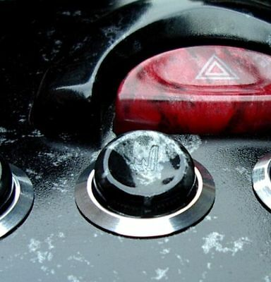 Aluminium-Knöpfe für Flaschenhalter //CD in gebürst o Smart fortwo 450 poliert