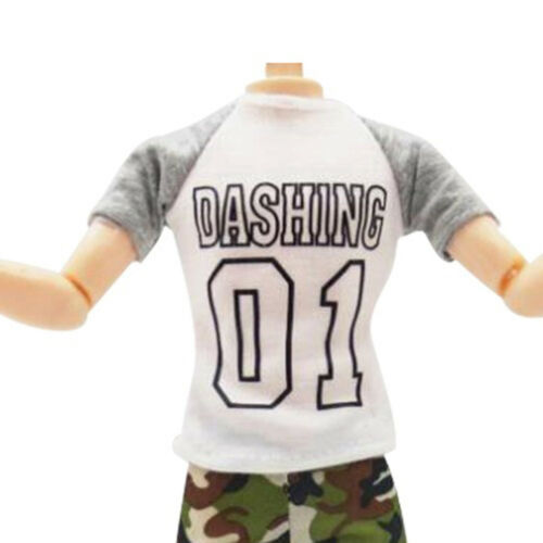 1set casual t-shirt+pants dolls clothes outfit for  dolls accessory FH