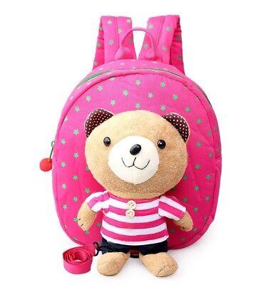 Amabile Teddy Bear ???? Zaino Zaino Bambino Vivaio Imbracatura Di Sicurezza Walker-mostra Il Titolo Originale Con Metodi Tradizionali