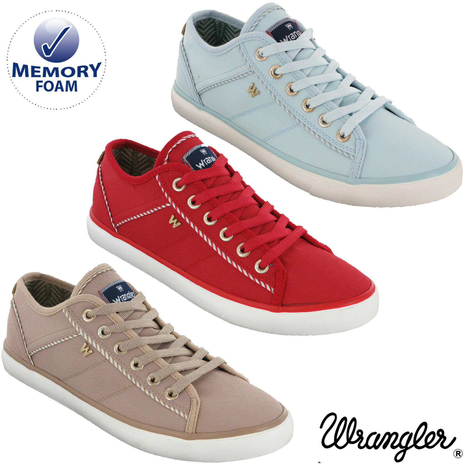 Wringler donna Canvas Trainers Pump Summer Fashion Nylon