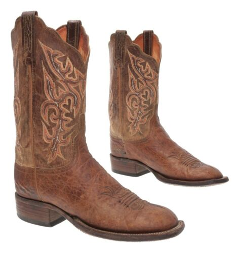 LUCCHESE Cowboy Boots 8.5 C Womens Brown Bullhide