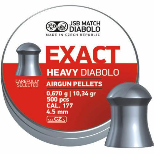 500 X JSB Exact Heavy Diabolo .177 4.52mm Heavy Weight Domed Pellets