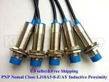 Us 5pcs Nc Pnp Lj18a3 8 Zay Inductive Proximity Sensor Switch Dc6v 36v
