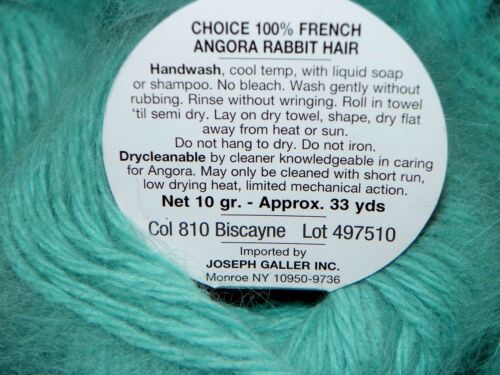 BISCAYNE 10gr 33yd Galler BELANGOR 100/% ANGORA Rabbit Fur X-SOFT Luxurious Yarn