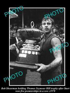 OLD-POSTCARD-SIZE-PHOTO-OF-STURT-FC-GREAT-BOB-SHEARMAN-1972-SANFL-PREMIERS