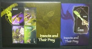 St-Vincent-2005-Insekten-Spinnen-Insects-Spiders-6170-6173-Block-651-MNH