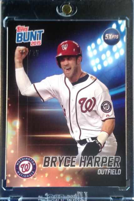 2015 Topps Bunt Bryce Harper Player Code Card Crossover Nationals SP /25