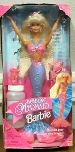 """BARBIE 1996 """"BUBBLING MERMAID"""" DOLL - HER CROWN BLOWS BUBBLES! #16131 - SEALED"""