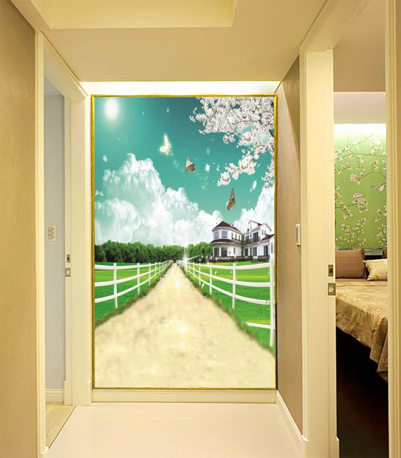3D Field House Sky Wallpaper Murals Wall Print Wallpaper Mural AJ WALL AU Lemon