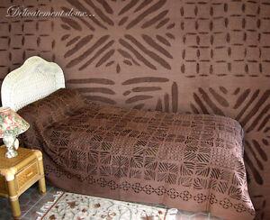 Très beau Couvre lit ajouré 100% COTON coloris chocolat   CL19   eBay