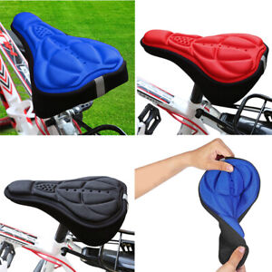 Bike Bicycle 3D Synthetic Gel Saddle Seat Cover Pad Padded Soft Cushion Comfort