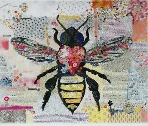 Honey-Bee-collage-style-applique-quilt-PATTERN-Laura-Heine
