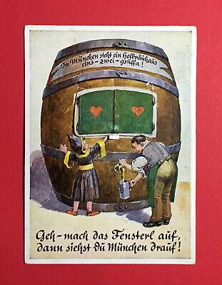 48654 Angenehm Zu Schmecken Reklame & Werbung Leporello Ak MÜnchen 1956 Bierfass Mit Ansichten Aus München