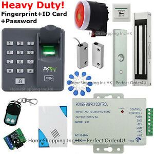 Details about Fingerprint+RFID Security Access Control System+Magnetic  Lock+Door Sensor+Siren