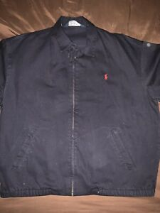 Vintage-Polo-Ralph-Lauren-Washed-Navy-Denim-Jacket-Men-s-Size-L