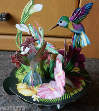 "3D  Pop Up Card by Santoro Graphics - Pirouette Cards -  ""Humming Birds"""