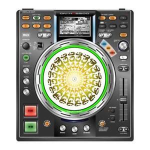 Glowtronics-034-O-Mazed-034-Slipmat-Skin-Jog-Wheel-Cover-Denon-PAAR-NEU