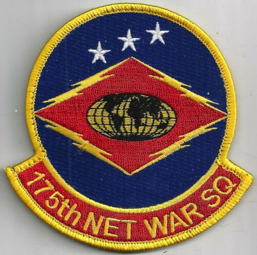 HOOK /& LOOP                COLOR USAF 175TH NETWORK WARFARE SQ PATCH