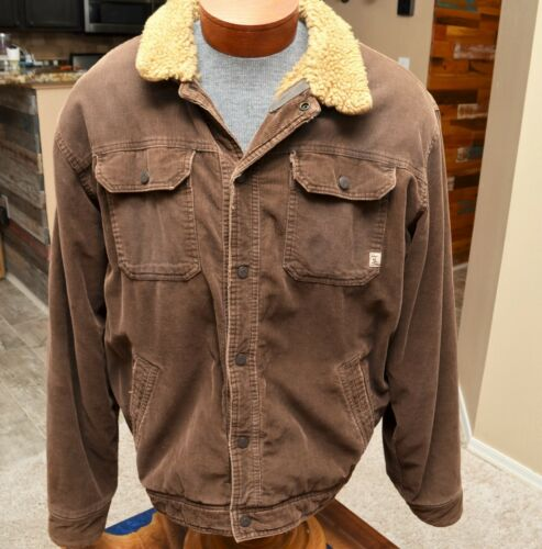 Abercrombie & Fitch Sherpa Fleece Lined Brown Cord